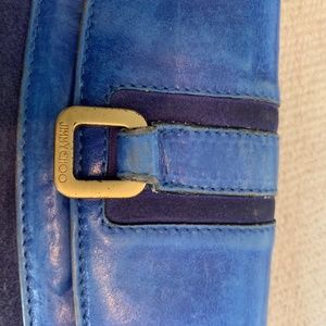JIMMY CHOO vintage Blue leather/suede wallet